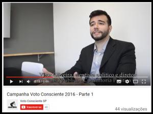 Voto Consciente São Paulo lançou uma campanha, com quatro vídeos para ajudar a vota consciente nas eleições 2016!