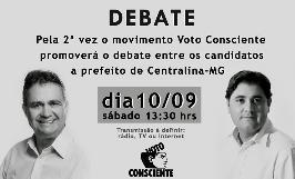 Debate promovido pelo Movimento Voto Consciente Centralina, para as eleições 2016.